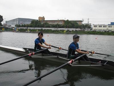 ボート部の練習の様子①