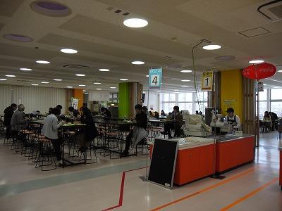 第一学生食堂の中の様子