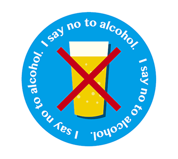 I say no to alcohol.