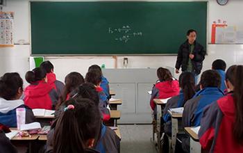 中国の高校物理授業の様子